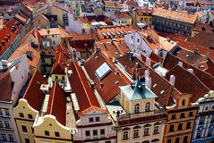 Traditional houses in Prague Royalty Free Stock Photo