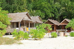 Traditional houses in resort Royalty Free Stock Images