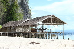 Traditional houses in resort Stock Photography