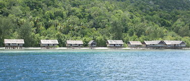 Traditional houses in resort Kri Eco Stock Images