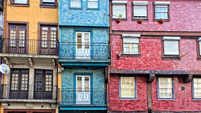 Traditional houses of Ribeira Royalty Free Stock Photography