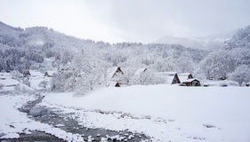Winter at Shirakawa-go village in Gifu, Japan Royalty Free Stock Photography