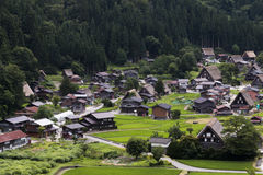 Traditional Houses in Shirakawa-go Village Stock Images