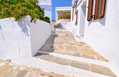 Traditional houses at Sifnos island Greece royalty free stock photos