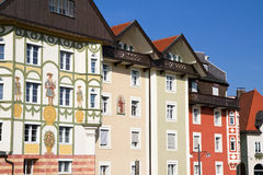 Traditional houses in southern bavaria, Germany Stock Photos