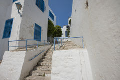 Traditional houses and staircases, Tunis, Tunisia Royalty Free Stock Images