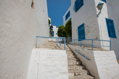 Traditional houses and staircases, Tunis, Tunisia Royalty Free Stock Image