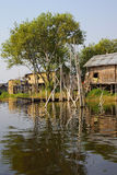 Traditional houses on stilts Stock Photo