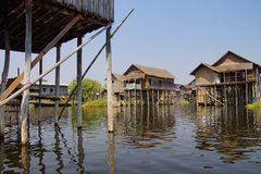 Traditional houses on stilts Royalty Free Stock Image