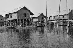 Traditional houses on stilts Stock Photography