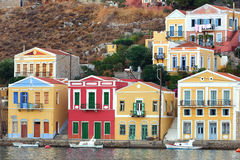 Traditional houses at Symi island Greece Stock Photography