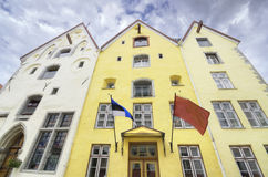 Traditional houses in Tallinn, Estonia Royalty Free Stock Photography