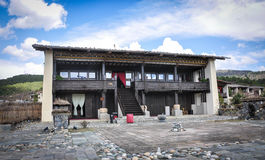 Traditional houses at Tibetan village in China Royalty Free Stock Photography