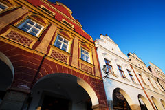 Traditional Houses in Town of Telc, Czech republic Stock Photos