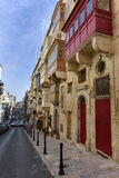 Traditional houses in Valletta Malta Stock Images