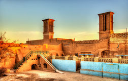 Traditional houses in Yazd with windcatcher ventilation towers Stock Photography