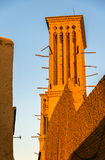 Traditional houses in Yazd with windcatcher ventilation towers Royalty Free Stock Photos