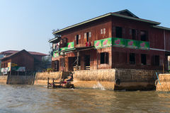 Traditional housing on Inle Lake in Myanmar. Stock Images