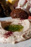 Traditional hummus dip Royalty Free Stock Photo