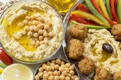 Hummus and falafel royalty free stock images
