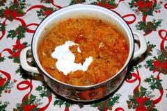 Free Traditional Hungarian Cabbage Food On Christmas Table Name Is Szekelykaposzta Royalty Free Stock Image - 64387736