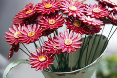 Traditional Hungarian ceramic flowers to decorate the interior. Of gardens and flower pots Stock Image