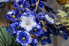 Traditional Hungarian ceramic flowers to decorate the interior Stock Photography