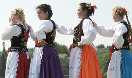 Traditional Hungarian Dancers Stock Images