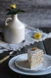 Traditional Hungarian Esterhazy cake Royalty Free Stock Photography