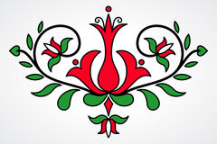 Traditional Hungarian floral motif Stock Image