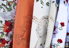 Traditional Hungarian folk embroidery. At Tihany Royalty Free Stock Photos