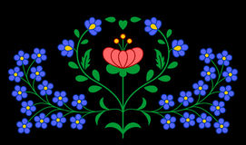 Traditional Hungarian folk embroidery pattern Stock Photo