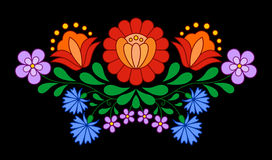 Traditional Hungarian folk embroidery pattern Royalty Free Stock Images