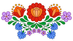 Traditional Hungarian folk embroidery pattern Stock Images