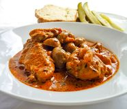 Traditional hungarian gravy chicken stew Stock Photography