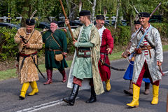 Traditional Hungarian harvest parade on september 11, 2016 in vi Royalty Free Stock Photos