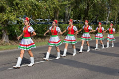 Traditional Hungarian harvest parade on september 11, 2016 in vi Royalty Free Stock Image