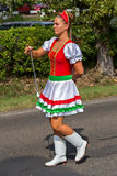 Traditional Hungarian harvest parade on september 11, 2016 in vi Stock Photo