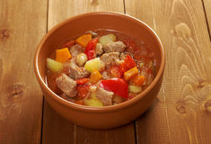 L Hungarian hot goulash soup Royalty Free Stock Photo