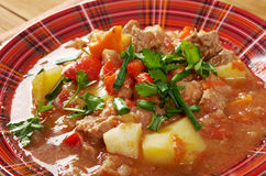 L Hungarian hot goulash soup Royalty Free Stock Photo