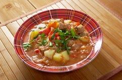 L Hungarian hot goulash soup Stock Photos