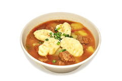 Traditional hungarian hot goulash soup Royalty Free Stock Photo