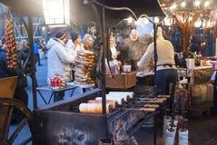 Traditional hungarian kalach on christmas market Stock Photos