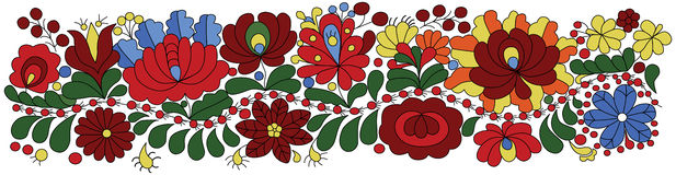 Hungarian Embroidery Pattern Stock Image