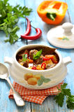 Traditional hungarian soup goulash. Stock Photography