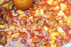 Traditional hungarian soup goulash Royalty Free Stock Photos