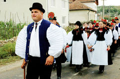 Traditional hungarian weding in Transylvania Stock Images