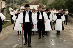 Traditional Hungarian weeding in Transylvania stock images
