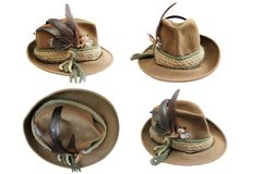 Traditional hunting hat details Royalty Free Stock Photography