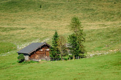 Traditional hut in the austrian alps Stock Photography